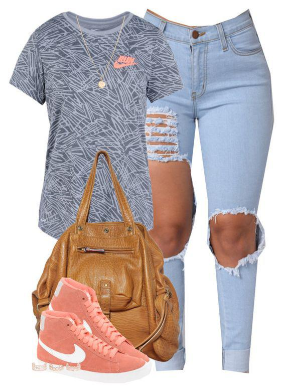 This outfit featuring NIKE, New Look and Laura Lee