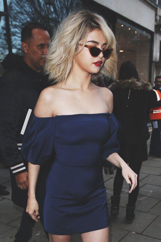 Selena spotted leaving her hotel in London, England.