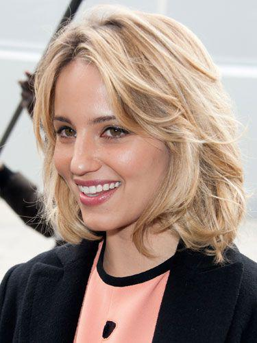 The Casual Crop Dianna Agron's tousled tresses have a very relaxed look to them that goes  ...