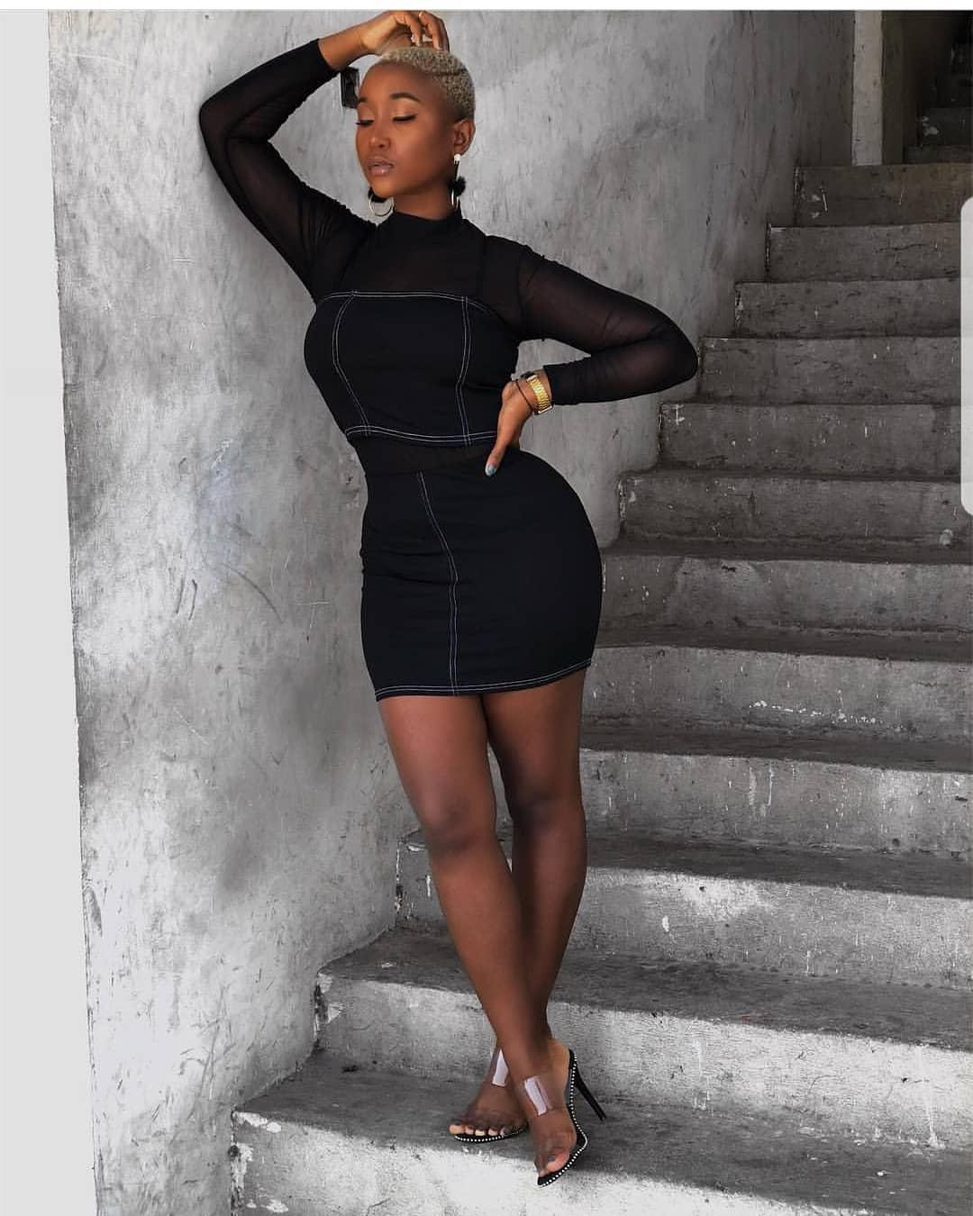 African American Teenage Girls Fashion: All Black Single Piece Outfit For African Girls On Stylevore