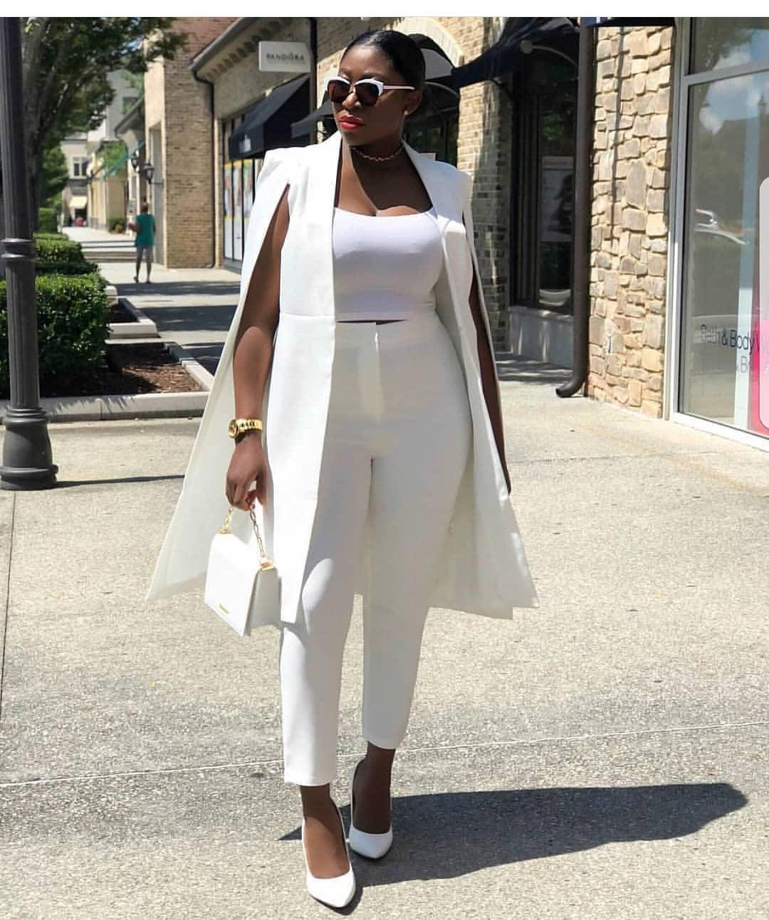 gorgeous all white outfits for black girls on stylevore