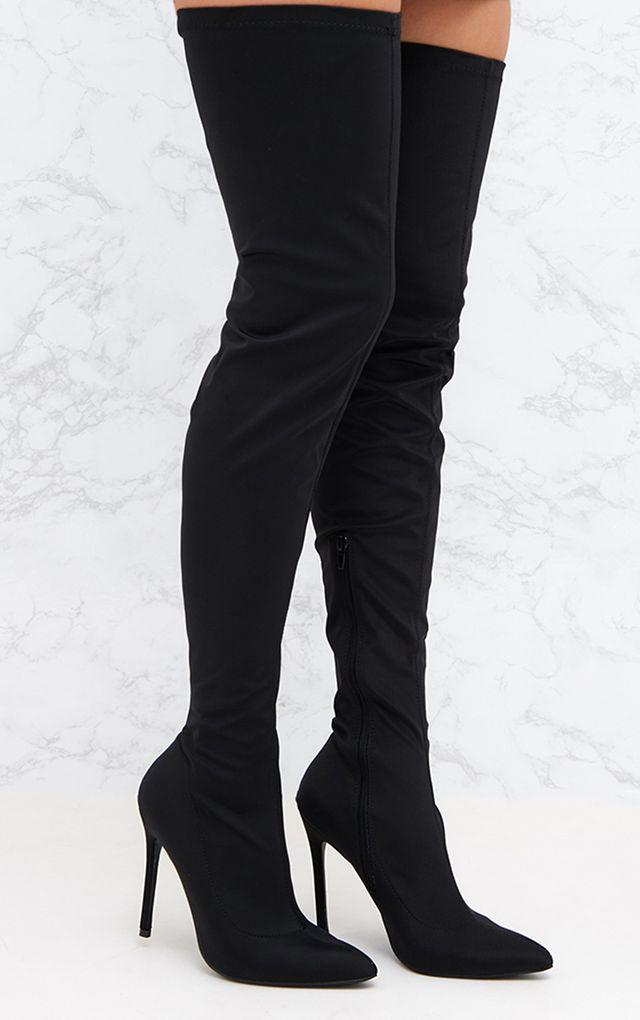 Black Thigh High Boots