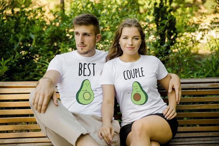 A cute pair of Matching outfit for couples with Avocado printed on them! – Couples Avocado ...