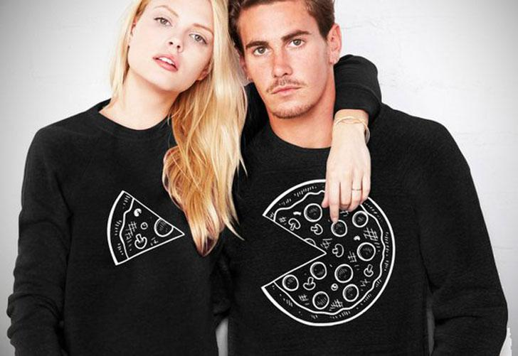Couples Pizza Sweaters – Matching Pairs of Outfit For Pizza Lovers
