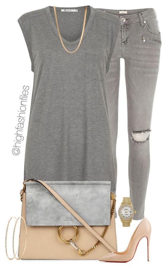 All Grayish Back to School Outfit Idea