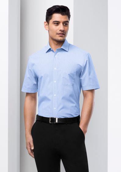 BIZ COLLECTION Men's Euro Short Sleeve Shirt S812MS
