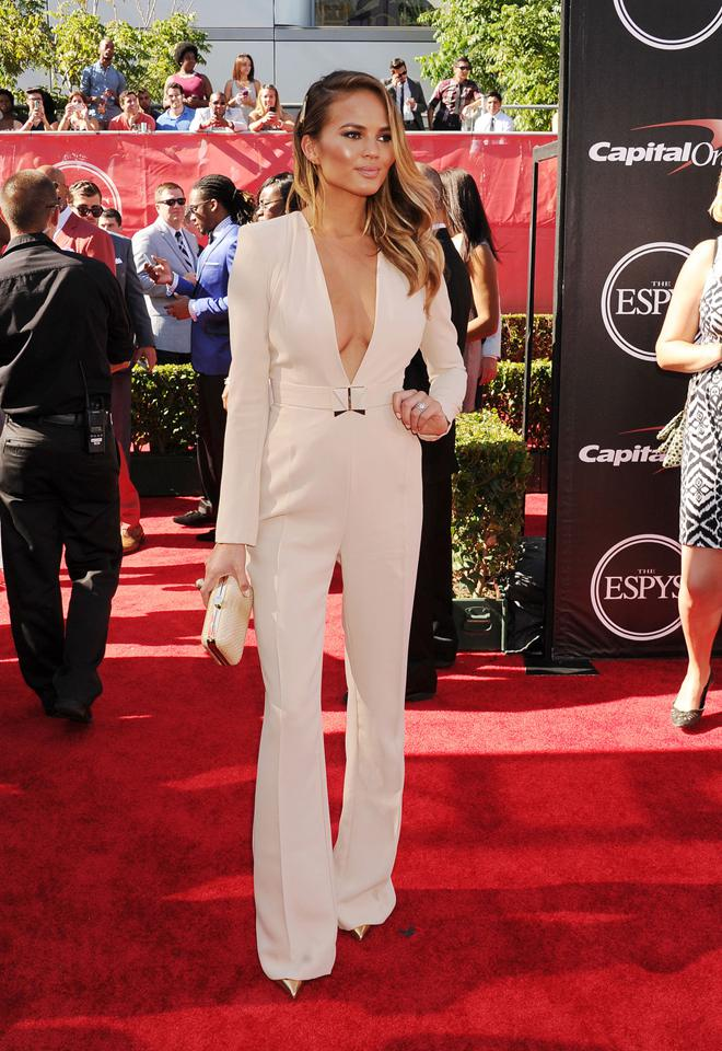Christine Teigen arrives at the ESPY Awards at Nokia Theatre L.A.