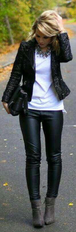 Party Outfits Ideas For Girls With Jacket is AMAZING… Love the whole look!