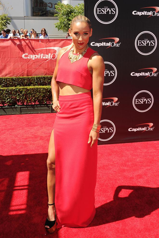 Track and field runner Lolo Jones arrives at the ESPY Awards at Nokia Theatre L.A. Live in Los A ...