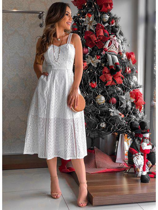 Vestido Glam Genova Off White – Christmas Party Outfit