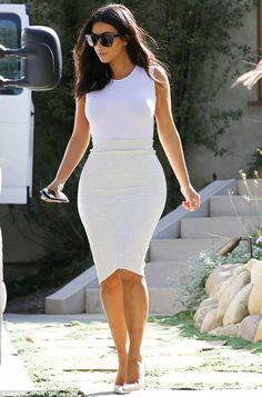 Kim Kardashian looks like the cream of the crop in tight white outfit