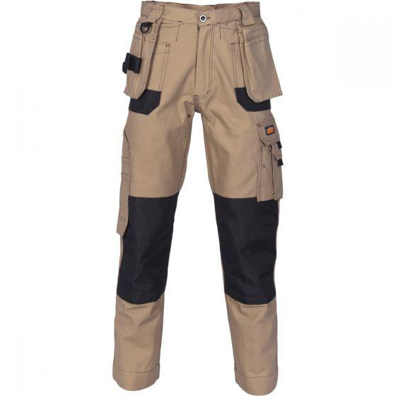 DNC WORKWEAR Duratex Cotton Duck Weave Tradies Cargo Pants With Twin Holster Tool Pocket – ...