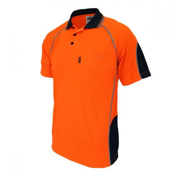 DNC WORKWEAR Hi-Vis Semicircle-Piping Polo 3569