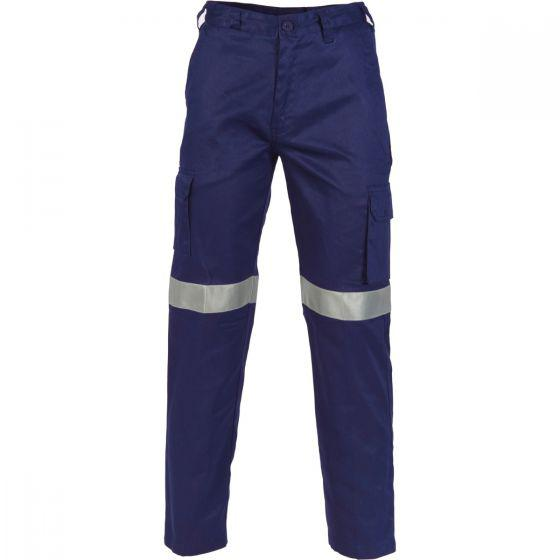 DNC WORKWEAR Lightweight Cotton Cargo Pants with 3M R/Tape 3326