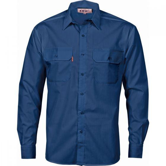 DNC WORKWEAR Polyester Cotton Long Sleeve Work Shirt 3212