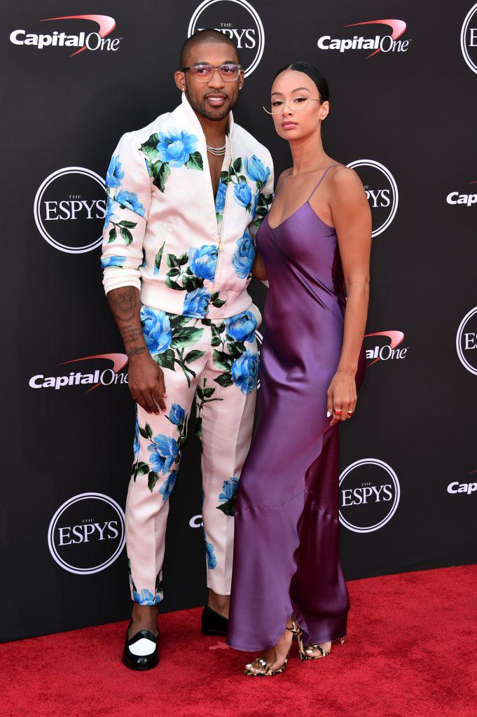 Draya Michele with fiancee Orlando Scandrick.