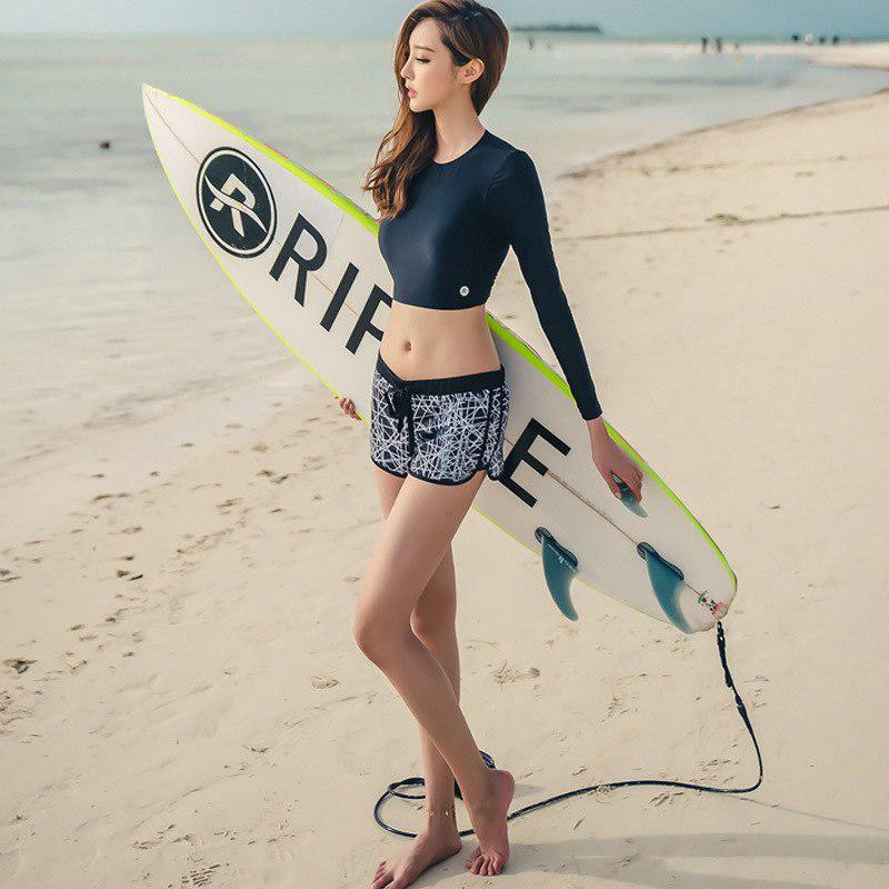 Summer Beach Long Sleeve Bathing Surfing Suit