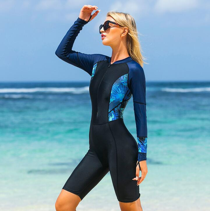 Women One Piece Long Sleeve Surf Suit