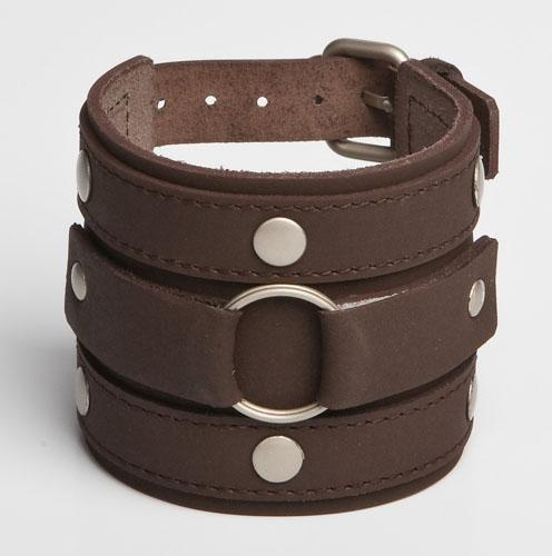 RINGWINNER | Brown Leather Wristband