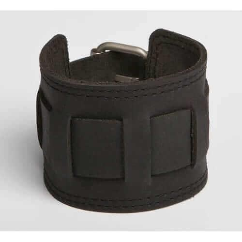 QUEST | Black, Brown, Mottled Brown, Tan Leather Wristband