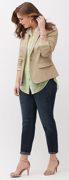 Lane Bryant The Modernist Suit Jacket Jeans Denim Outfits 2019