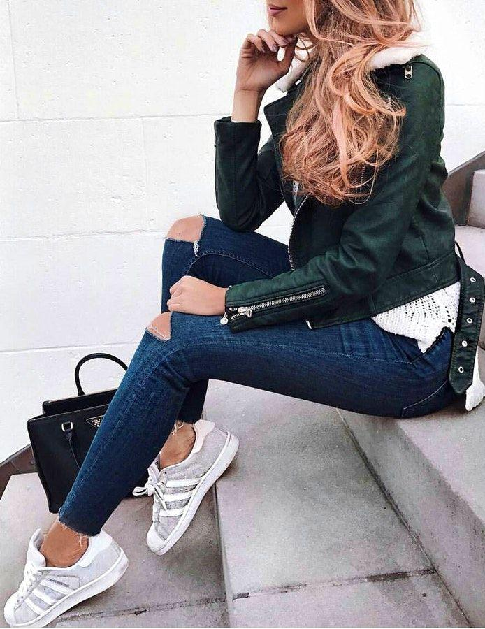 40 Preppy Winter Outfits Jeans Outfit Ideas – Denim Outfits 2019