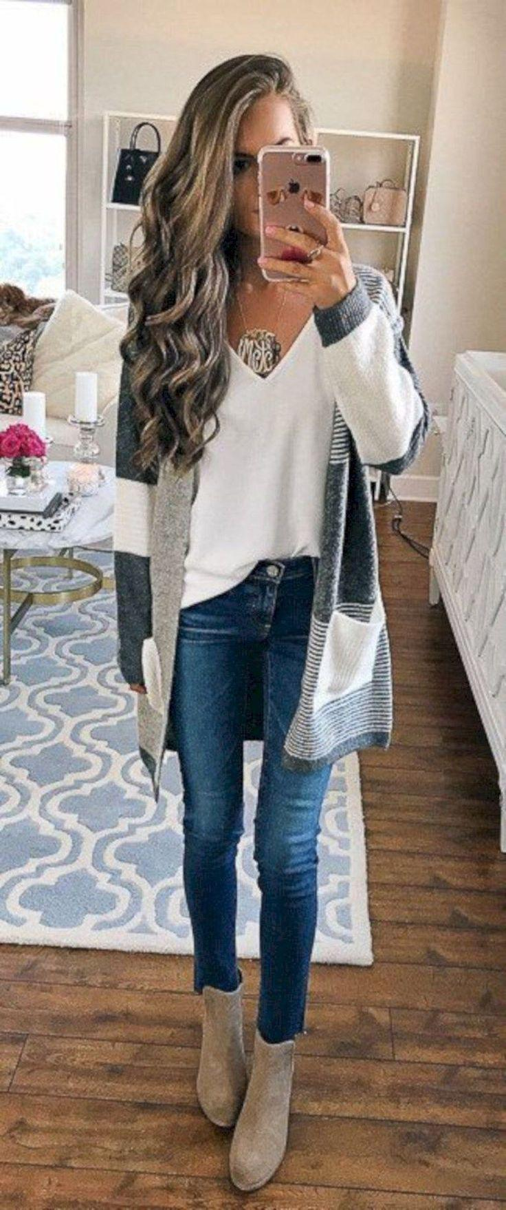 a11b0fb724b Womens style  Awesome 41 OutfitsColor Spring Style for Beautiful… Jeans  Outfit Ideas ̵ .