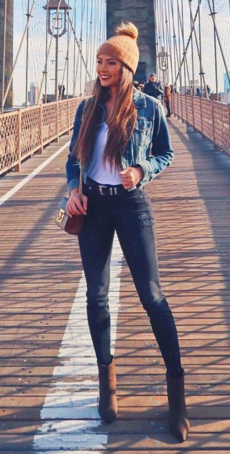 41 Best Winter Style Ideas For Jean Jacket Jeans Outfit Ideas