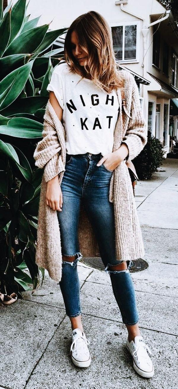 188e786af03 50 Cute Spring Outfits with Sneakers 2019 Jeans Outfit Ideas – Denim Outfits  2019