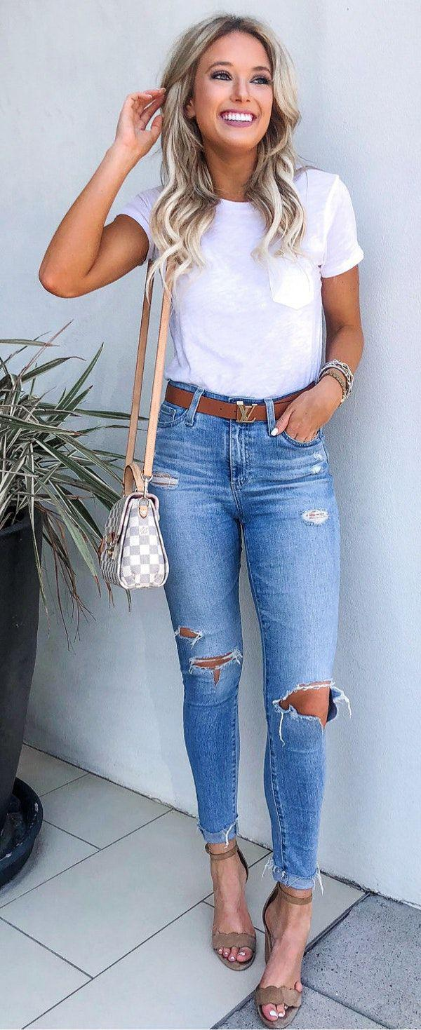 10+ Fantastic Summer Outfits To Stand Out From The Crowd Jeans Outfit Ideas – Denim Outfit ...