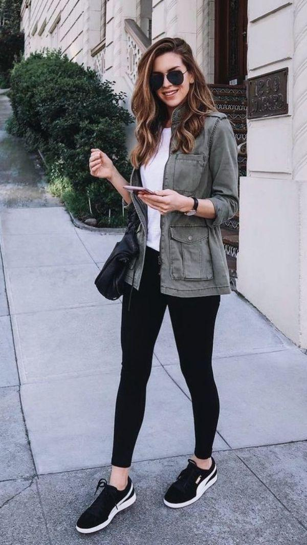 Informal Work Outfits With Sneakers Jeans Outfit Ideas – Denim Outfits 2019