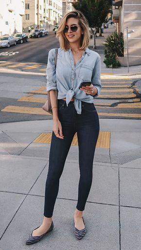 10 formas estilosas de usar nozinho na cintura Jeans Outfit Ideas – Denim Outfits 2019