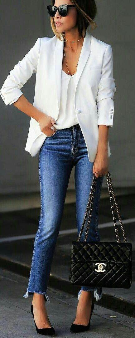 50 Top Looks Outfit Ideas With Blazer You Have To Try Jeans Outfit Ideas – Denim Outfits 2019