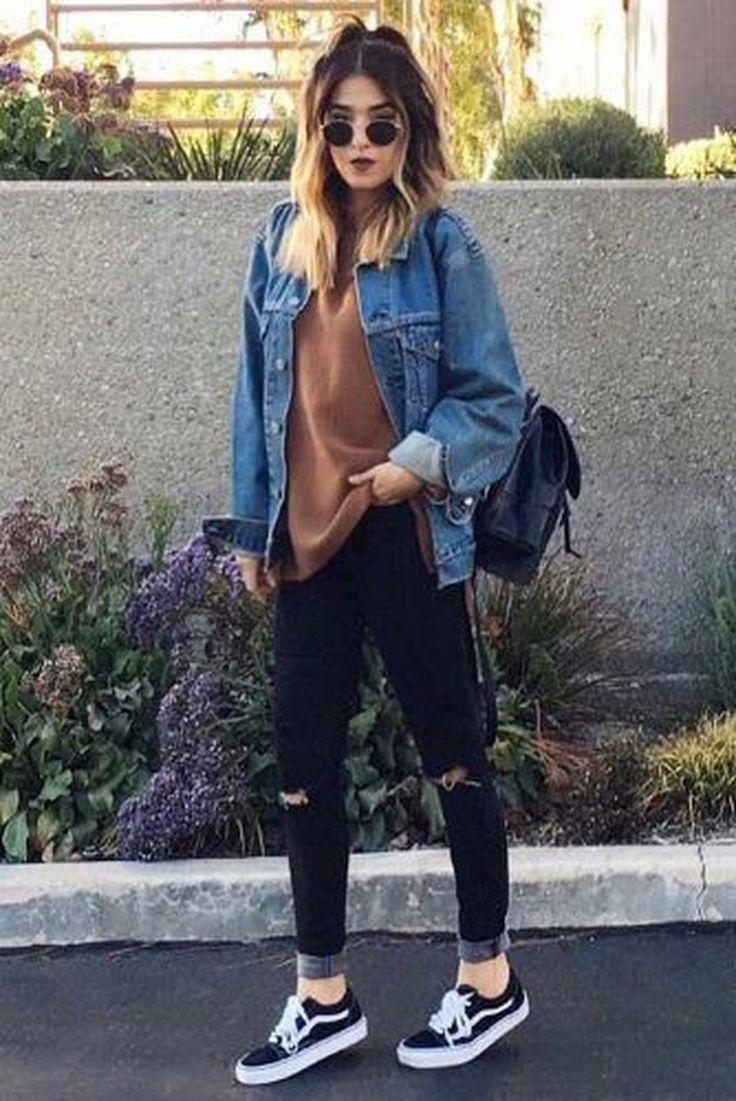 29 Best School Outfit Ideas for Teen Girls for This Winter Jeans
