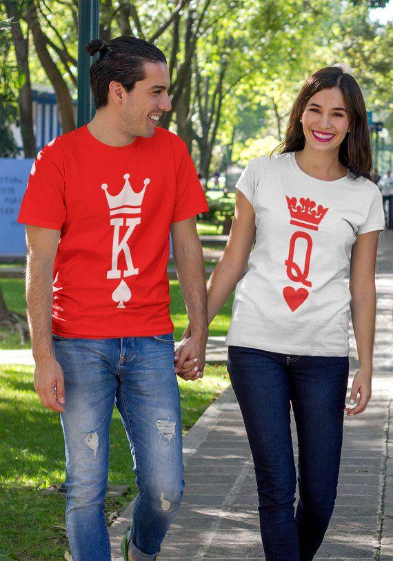 King and Queen Shirts, King Queen T-shirts, König Königin Shirts, Roi Et Reine T-shirts, Couple  ...