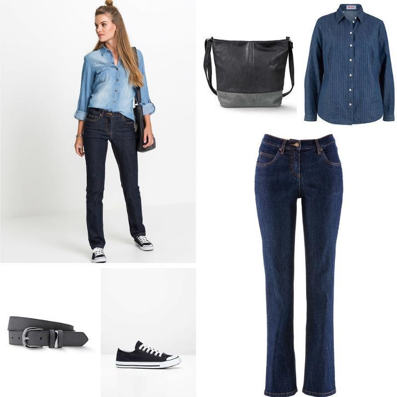 Dark blue jeans + addons