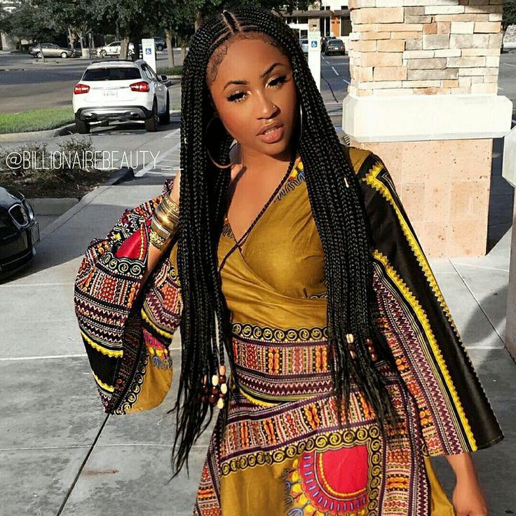 Fulani Braids Hairstyle Black Girl Alicia Keys Box Braids