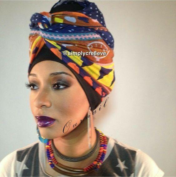 Black Girls Head tie – turban, scarf, africa, dress