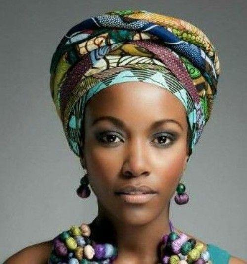 African Head Wraps Black Girls Head Tie Head Wrap On