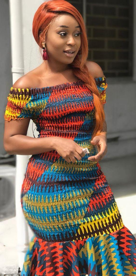African wax prints. Black Girls African Dress, Kente cloth