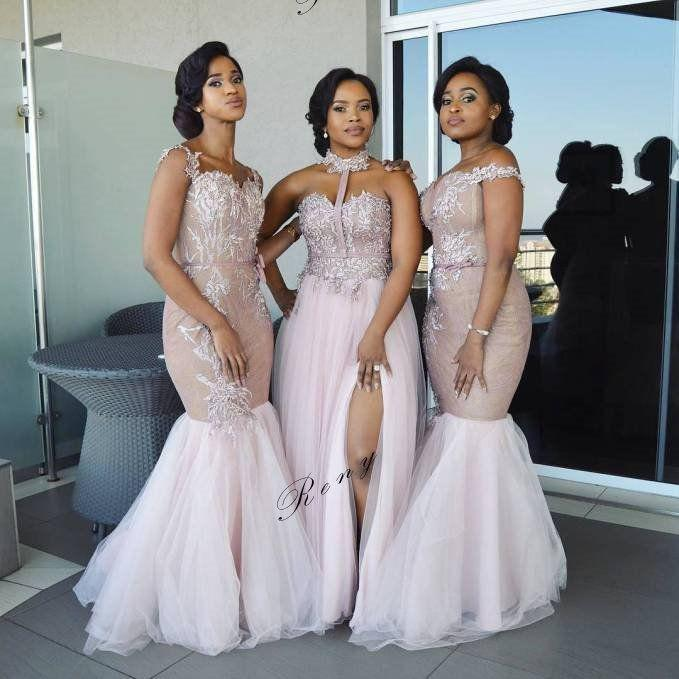 African Bridesmaid Dresses. Black Girls Wedding dress