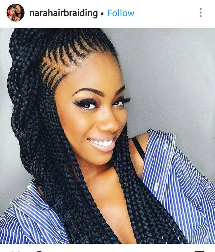Black Girl African hairstyles, Box braids