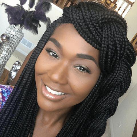 Black Girl Box braids, Black hair