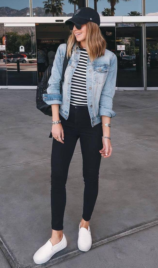 Jeans and Sneakers, Black Jeans Casual wear, Jean jacket ...