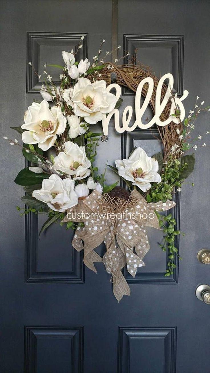 Magnolia wreath, Artificial flower, Southern magnolia on ...