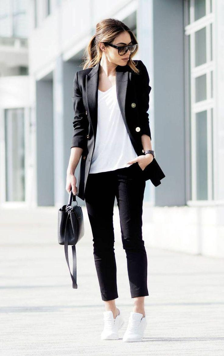 Sneakers smart casual. 23 Look Good Casual Chic Spring Outfit