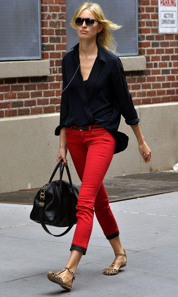 87ab1ef89c2b Frankie Morello Red Trousers. Beauty Tips, Celebrity Style and Fashion  Advice from