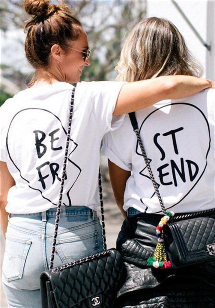 Best Friends Matching outfit Printed T-shirt,