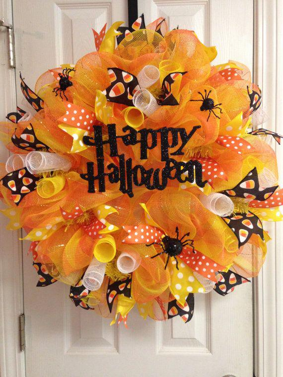 Cute fall mesh wreath ideas