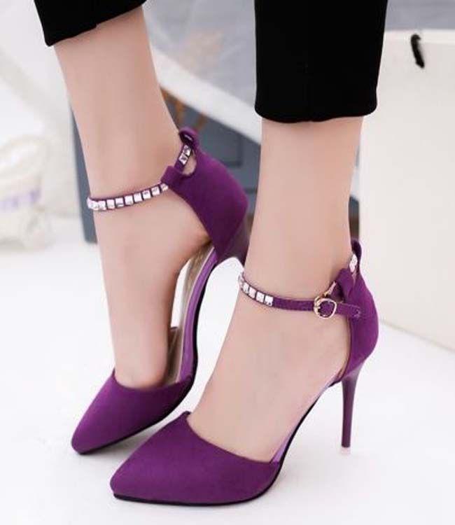 design de qualité 09827 397b6 escarpins femme pas cher. Cheap Plain Stiletto Heel Pointed ...